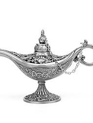 Недорогие -1шт полый резной аладдин джинна масляная лампа сплав цинка металл новинка свет винтаж горшок аравийский свет мода
