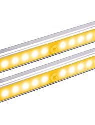 Недорогие -2pcs LED Night Light / Умный ночной свет Тёплый белый / Белый Аккумуляторы AAA Smart / Инфракрасный датчик / Датчик человеческого тела Батарея