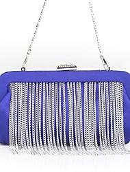 preiswerte -Damen Taschen Seide Abendtasche Quaste Volltonfarbe Blau