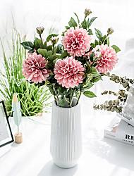Χαμηλού Κόστους -Ψεύτικα λουλούδια 1 Κλαδί Κλασσικό Αξεσουάρ Στολής Ποιμενικό Στυλ Χρυσάνθεμο Αιώνια Λουλούδια Λουλούδι για Τραπέζι