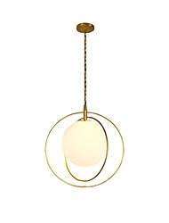 Недорогие -Подвесные лампы Рассеянное освещение Окрашенные отделки Металл Стекло Новый дизайн 110-120Вольт / 220-240Вольт