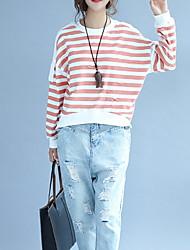 abordables -camiseta de mujer - cuello redondo a rayas
