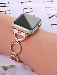Недорогие -SmartWatch для Apple Watch серии 4/3/2/1 Apple, ювелирные изделия дизайн браслет из нержавеющей стали