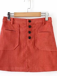 cheap -women's mini a line skirts - solid colored