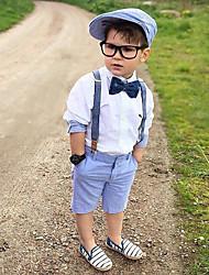 tanie -Dzieci / Brzdąc Dla chłopców Aktywny / Podstawowy Solidne kolory Łuk Długi rękaw Bawełna / Spandeks Komplet odzieży Biały