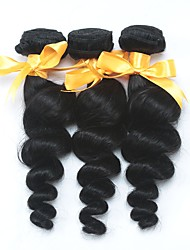 cheap -3 Bundles Indian Hair Loose Wave Unprocessed Human Hair 100% Remy Hair Weave Bundles Headpiece Natural Color Hair Weaves / Hair Bulk Tea Party Favors 8-28 inch Natural Color Human Hair Weaves