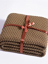 abordables -Couvertures Multifonctionnelles, Couleur Pleine / simple / Classique Tricot / Fibres acryliques Réchauffeur Frange Doux couvertures