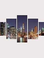 abordables -Imprimé Impressions sur toile roulées Impression sur Toile - Niches Architecture Contemporain Moderne Cinq Panneaux
