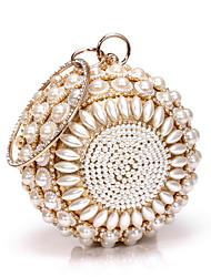 preiswerte -Damen Taschen Polyester / Aleación Abendtasche Perlen Verzierung / Glitzer Volltonfarbe Gold / Silber