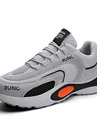 cheap -Men's Comfort Shoes Mesh Spring & Summer Sporty Athletic Shoes Running Shoes Breathable White / Black / Gray