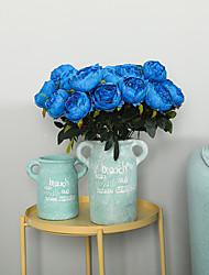 abordables -Fleurs artificielles 1 Une succursale Classique Traditionnel / Classique Européen Pivoines Fleurs éternelles Fleur de Table