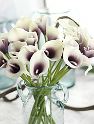 cheap -Artificial Flowers 10 Branch Classic Modern Contemporary European Calla Lily Tabletop Flower