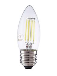 levne -GMY® 1ks 3.5 W 400 lm E26 / E27 LED žárovky s vláknem C35 4 LED korálky COB Stmívatelné Ozdobné Chladná bílá 220-240 V / RoHs