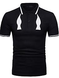 billiga -mans slim polo - solidfärgad skjorta krage