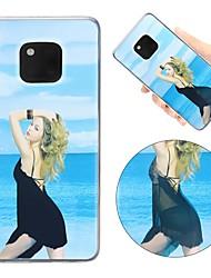 Недорогие -Кейс для Назначение Huawei P20 Pro / P20 lite Защита от удара / Движущаяся жидкость / Ультратонкий Кейс на заднюю панель Соблазнительная девушка Мягкий ТПУ для Huawei P20 / Huawei P20 Pro / Huawei