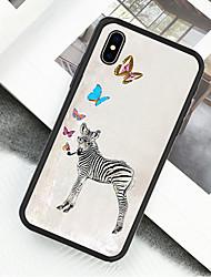 preiswerte -Hülle Für Apple iPhone X / iPhone XS Muster Ganzkörper-Gehäuse Tier / Ölgemälde Hart Acryl für iPhone XS / iPhone XR / iPhone X