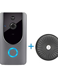 Недорогие -HQCAM Smart Wireless Video Doorbell Wifi doorbell Camera Intercom Door Bell Video doorbel Call For Apartments IR Alarm + Wireless chime WIFI Снято / Запись / Многоквартирные видео дверной звонок