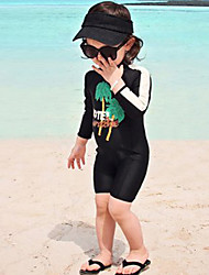 cheap -JIAAO Boys' One Piece Swimsuit UV Sun Protection Ultra Light (UL) Wearable Chinlon Swimwear Beach Wear Bodysuit Patchwork Swimming / High Elasticity