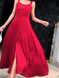 זול -מידי אחיד - שמלה סווינג בסיסי בגדי ריקוד נשים