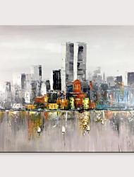 halpa -Hang-Painted öljymaalaus Maalattu - Abstrakti Maisema Klassinen Moderni Ilman Inner Frame