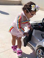 お買い得  -赤ちゃん 女の子 活発的 / ベーシック プリント プリント 長袖 レギュラー レギュラー コットン アンサンブル ホワイト