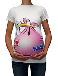 tanie -T-shirt Damskie Patchwork / Nadruk Zwierzę
