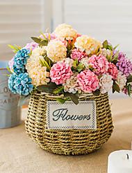 Χαμηλού Κόστους -Ψεύτικα λουλούδια 1 Κλαδί Κλασσικό Γάμος Λουλούδια Γάμου Ορτανσίες Αιώνια Λουλούδια Λουλούδι για Τραπέζι