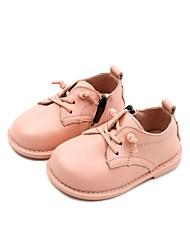 halpa -Tyttöjen Kengät Nahka Kevät Comfort / Ensikengät Oxford-kengät varten Taapero Musta / Beesi / Pinkki