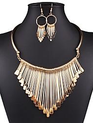 hesapli -Kadın's Vintage / Temel Mücevher Setleri Solid
