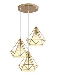 Недорогие -3-Light Подвесные лампы Потолочный светильник Металл 110-120Вольт / 220-240Вольт Теплый белый