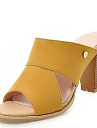 ieftine -Pentru femei Sintetice Vară Sandale Toc Îndesat Vârf deschis Ținte Verde / Albastru / Roz