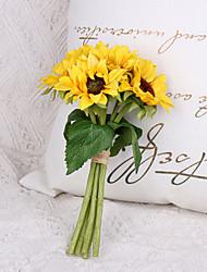 Недорогие -Искусственные Цветы 6 Филиал Классический Стиль европейский Подсолнухи Букеты на стол
