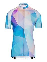 お買い得  -女性用 半袖 サイクリングジャージー - スカイブルー バイク トップス 速乾性 スポーツ ポリエステル100% マウンテンサイクリング ロードバイク 衣類 / 伸縮性あり