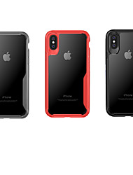 baratos -Capinha Para Apple iPhone XS / iPhone XS Max Ultra-Fina / Transparente Capa traseira Sólido Rígida PC para iPhone XS / iPhone XR / iPhone XS Max