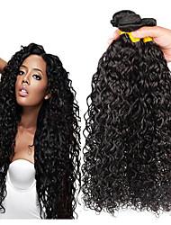 Недорогие -4 Связки Перуанские волосы Волнистые Не подвергавшиеся окрашиванию человеческие волосы Remy Косплей Костюмы Человека ткет Волосы Пучок волос 8-28 дюймовый Естественный цвет Ткет человеческих волос