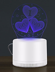 abordables -BRELONG® 1pc LED Night Light Violet USB Bande dessinée / Créatif / Insecte tueur de mouche moustique 5 V