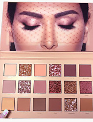 Недорогие -Make-up For You 18 цветов Тени Глаза / Тени для век Не содержит формальдегидов / Не содержит парабенов / Молодежный Натуральный Воздухопроницаемость Безопасность / Матовое стекло / Отблеск