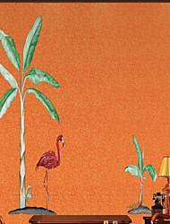 olcso -tapéta / Falfestmény / Falszövet Nem szőtt Falburkolat - ragasztószükséglet Fák / levelek / Art Deco / 3D