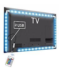 Недорогие -новинка RGB свет светодиодная лента smd 5050 с 24 клавишами дистанционная гибкая светодиодная лента 3 м для Ambilight ТВ подсветка настольного ПК
