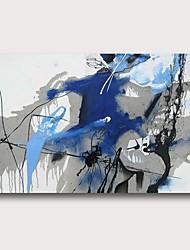 abordables -Pintura al óleo pintada a colgar Pintada a mano - Abstracto Contemporáneo Modern Incluir marco interior