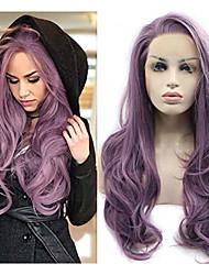 Недорогие -Синтетические кружевные передние парики Естественные волны Фиолетовый Боковая часть Фиолетовый 180% Человека Плотность волос Искусственные волосы 22-24 дюймовый Жен. Жаропрочная / Природные волосы