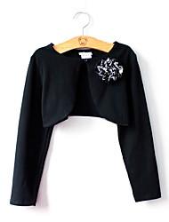 זול -חולצה שרוול ארוך אחיד בנות ילדים