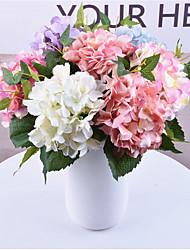 povoljno -Umjetna Cvijeće 1 Podružnica Klasični Vjenčanje Cvijeće za vjenčanje Hortenzije Vječni cvjetovi Cvjeće za stol
