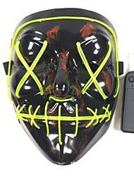 abordables -1pc Masque LED Vert Piles AA alimentées Cool / Décoration / Lampe d'ambiance 5 V