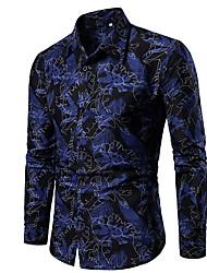 رخيصةأون -قميص الرجل النحيف - طوق القميص الأزهار