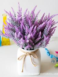 abordables -Fleurs artificielles 5 Une succursale Classique Accessoires de Scène style pastoral Lavande Fleurs éternelles Fleur de Table