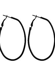 ราคาถูก -สำหรับผู้หญิง คลาสสิค ต่างหูติดหู ต่างหูแบบห่วง ต่างหู คลาสสิก เครื่องประดับ สีดำ สำหรับ ทุกวัน เป็นทางการ 1 คู่