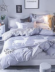 お買い得  -布団カバーセット 贅沢 / カートゥン ポリスター プリント 4個Bedding Sets