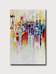halpa -Hang-Painted öljymaalaus Maalattu - Abstrakti Vintage Moderni Ilman Inner Frame