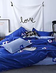 お買い得  -布団カバーセット 贅沢 / 現代風 ポリスター プリント 4個Bedding Sets